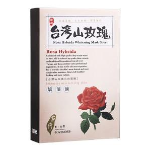 LoveMore 愛戀膜法 豐台灣山形玫瑰水白蠶絲隱形面膜