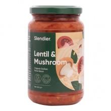 Slendier Lentil and Mushroom Organic Italian Pasta Sauce