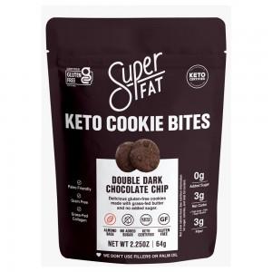 SuperFat Keto Cookie Bites Double Chocolate