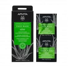 Apivita 蘆薈補濕清爽面膜 (12 x 8ml)