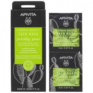 Apivita Moisturizing and Revitalizing Mask with Prickly Pear (12 x 8ml)